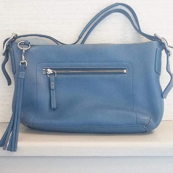 Coach Handbags - Authentic Coach Blue Tassel Handbag